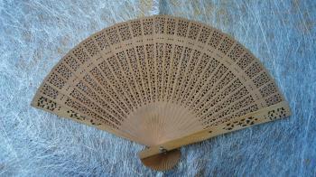 Wooden Fan - Punch Pattern