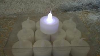 LED Candle 12pcs: White