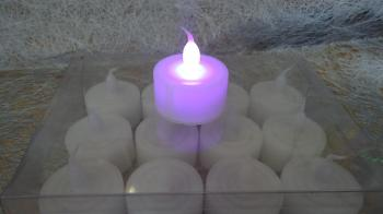 LED Candle 12pcs: Multi-Colour