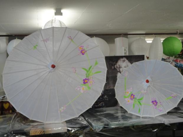 Small Fabric Parasol - Chinese Print