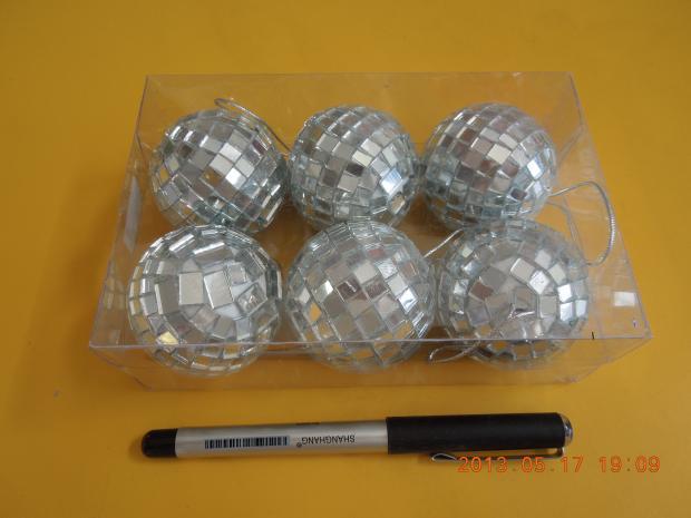 Mirror Balls 5cm, 6pcs