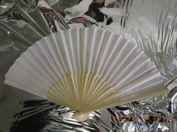 Fabric Fan-Plein White