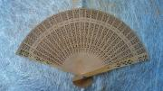 Wooden Fan - Punch Pattern